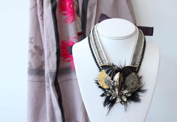Grand Duc necklace by Charlotte Hosten
